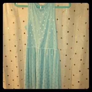 XS Free People French Blue Mini Dress